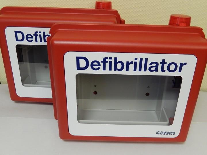 AED Wandkasten aus schlagfestem Kunststoff mit Alarm
