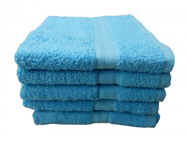 Frottee Handtuch, 50 x 90 cm, blau, 100% Baumwolle-Copy