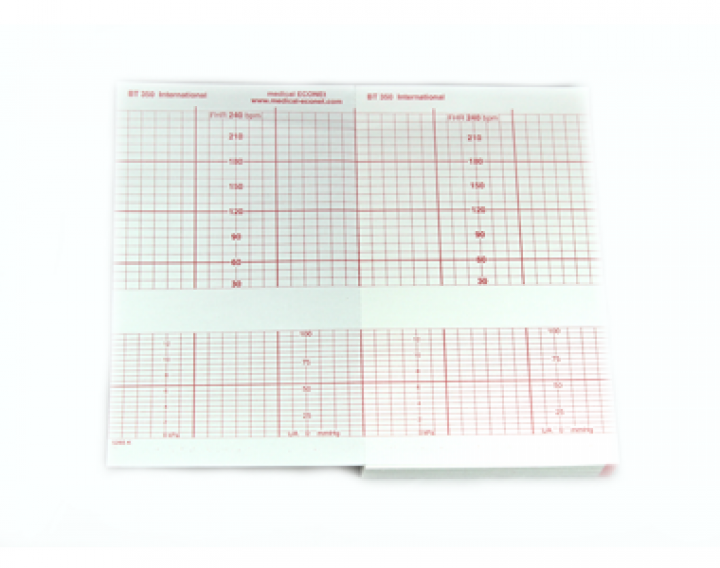 Druckerpapier für Fetalmonitor ECOtwin (international) 15m x 9cm (30-240bpm)