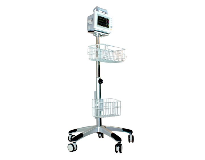 Mobiles Fahrstativ für Patientenmonitor Compact 5 / 7 / 9