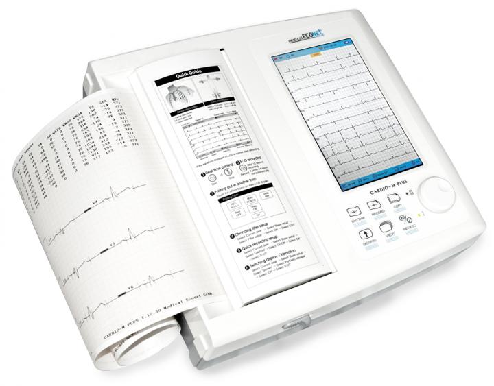 EKG-Gerät Cardio M Plus (12-Kanal Ruhe-EKG mit 7