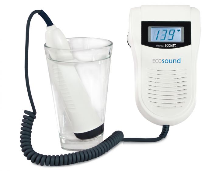 Fetalmonitor ECOsound WP (Fetal Doppler mit wasserfester Sonde)