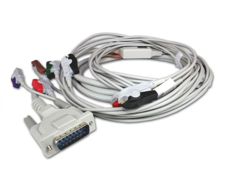 Patientenkabel mit Klammeradapter für EKG-Gerät Cardio Smart M Serie